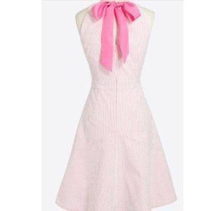 JCF Pink Striped Seersucker Dress - Sz 4 - NWT